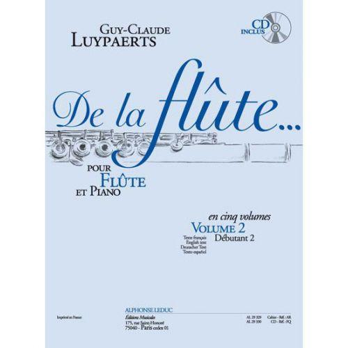LEDUC LUYPAERTS - DE LA FLUTE VOL.2 + CD - NIVEAU DEBUTANT 2