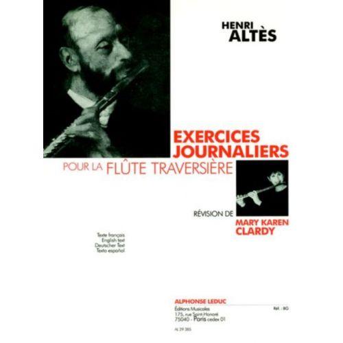 LEDUC ALTES HENRI - EXERCICES JOURNALIERS POUR LA FLÛTE TRAVERSIÈRE – RÉVISION DE MARY KAREN CLARDY
