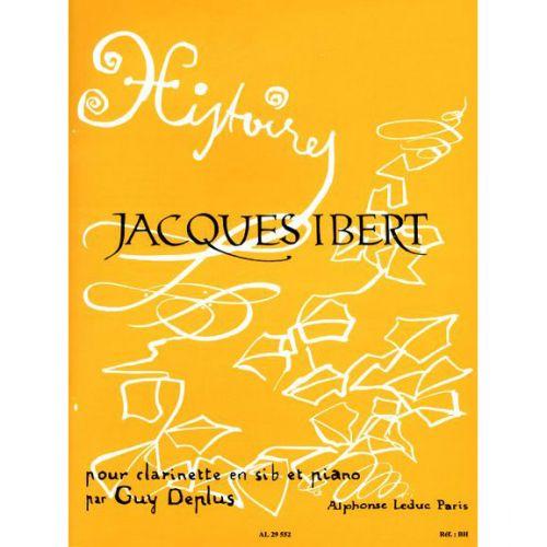 LEDUC IBERT JACQUES - HISTOIRES - CLARINETTE & PIANO