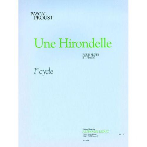 LEDUC PROUST P. - HIRONDELLE - FLUTE ET PIANO