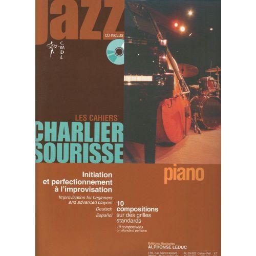 LEDUC LES CAHIERS CHARLIER-SOURISSE POUR PIANO + CD