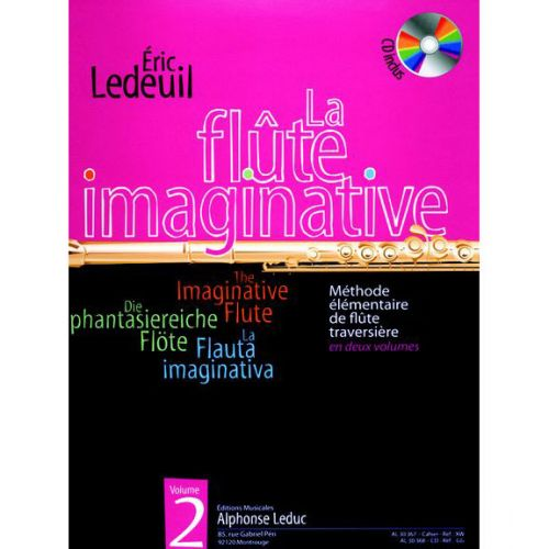 LEDUC LEDEUIL ERIC - FLUTE IMAGINATIVE VOL.2 + CD