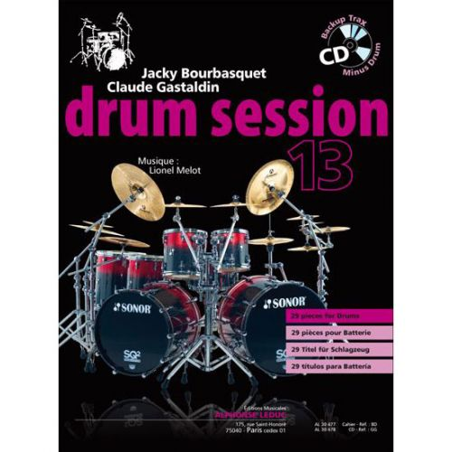 LEDUC BOURBASQUET/GASTALDIN - DRUM SESSION VOL.13 + CD