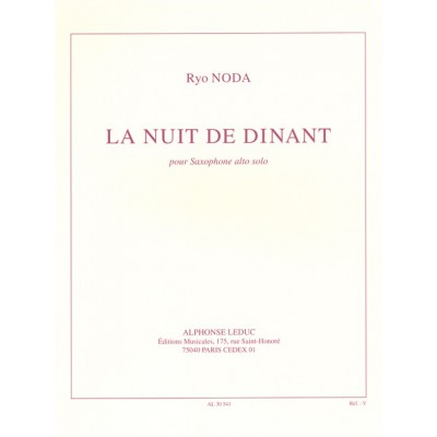 LEDUC NODA RYO - LA NUIT DE DINANT - SAXOPHONE ALTO SEUL