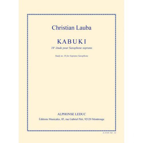 LEDUC LAUBA CH. - KABUKI - 16e ETUDE POUR SAXOPHONE SOPRANO