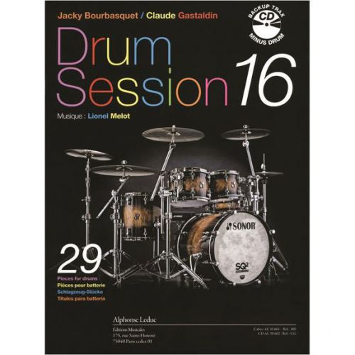 LEDUC BOURBASQUET/GASTALDIN - DRUM SESSION VOL.16 + CD