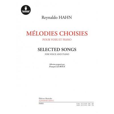 HEUGEL HAHN REYNALDO - MELODIES CHOISIES - VOIX ET PIANO