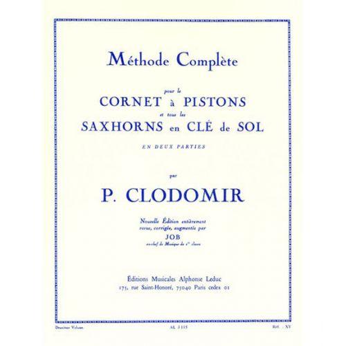 LEDUC CLODOMIR P. - METHODE COMPLETE VOL.2 POUR LE CORNET A PISTONS OU TOUT SAXHORN CLÉ DE SOL
