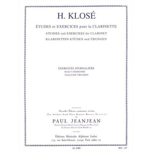 LEDUC KLOSE - EXERCICES JOURNALIERS POUR LA CLARINETTE
