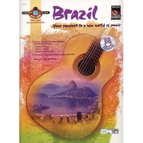ALFRED PUBLISHING NEWMAN BILLY - GUITAR ATLAS BRAZIL + CD