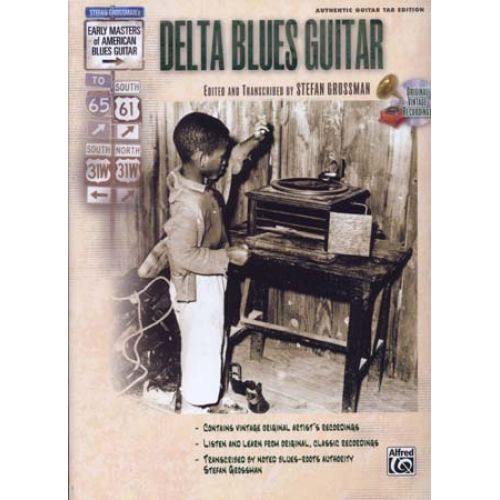 ALFRED PUBLISHING GROSSMAN STEFAN - DELTA BLUES GUITAR TAB CD