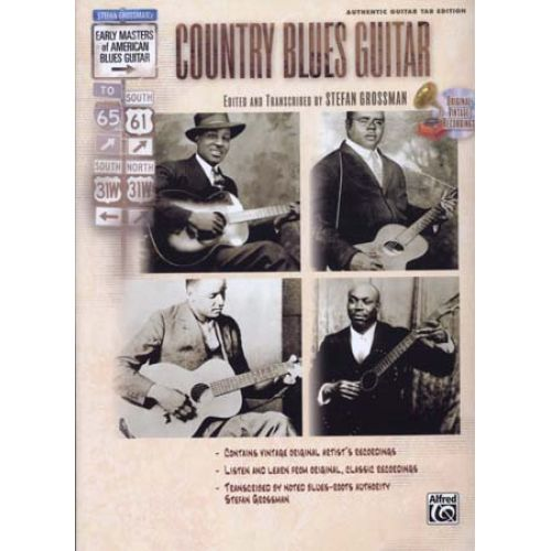 ALFRED PUBLISHING GROSSMAN STEPHEN - COUNTRY BLUES GUITAR + CD