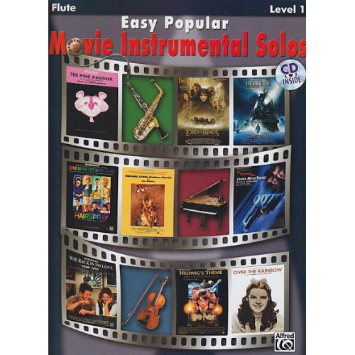 ALFRED PUBLISHING EASY POPULAR MOVIE INSTRUMENTAL SOLOS FLUTE + CD