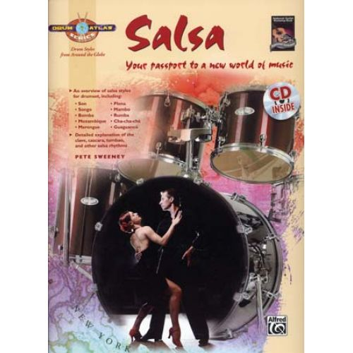 ALFRED PUBLISHING SWEENEY PETE - DRUM ATLAS SALSA + CD