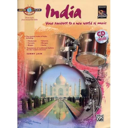 ALFRED PUBLISHING SWEENEY PETE - DRUM ATLAS INDIA + CD