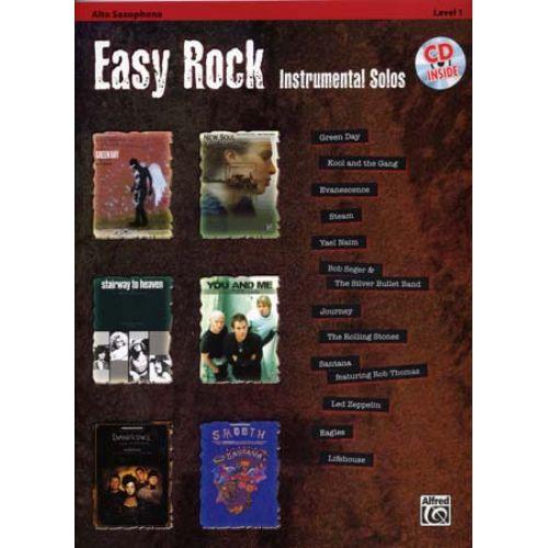 ALFRED PUBLISHING EASY ROCK INSTRUMENTAL SOLOS + CD - ALTO SAX