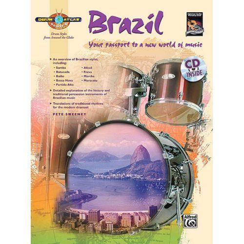ALFRED PUBLISHING SWEENEY PETE - DRUM ATLAS BRAZIL + CD