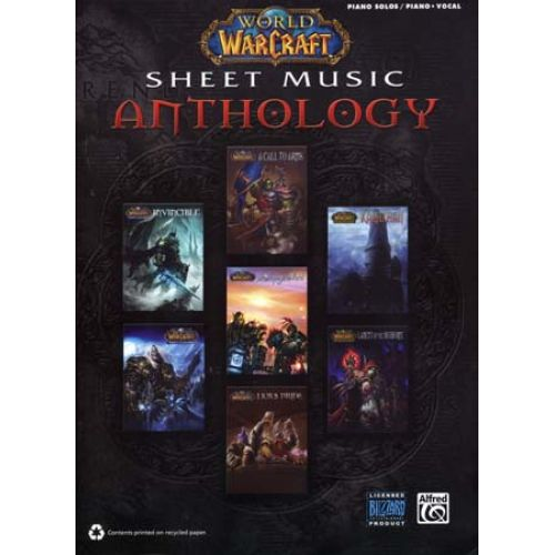 ALFRED PUBLISHING WORLD OF WARCRAFT - SHEET MUSIC ANTHOLOGY - PIANO SOLOS AND VOCAL