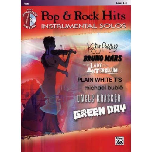 ALFRED PUBLISHING POP & ROCK HITS INSTRUMENTAL SOLOS FLUTE + CD