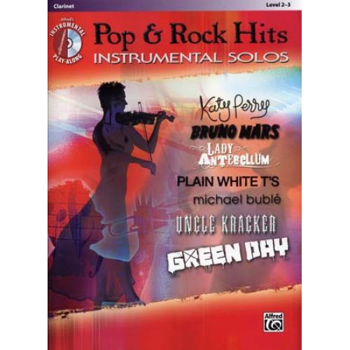 ALFRED PUBLISHING POP & ROCK HITS INSTRUMENTAL SOLOS CLARINET + CD