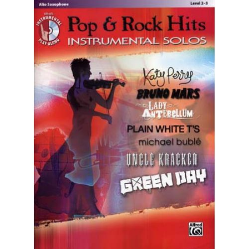 ALFRED PUBLISHING POP & ROCK HITS INSTRUMENTAL SOLOS ALTO SAX + CD
