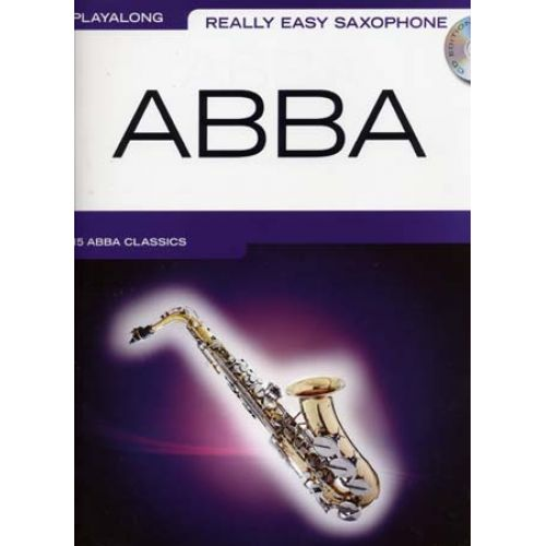 WISE PUBLICATIONS ABBA - PLAYALONG - REALLY EASY SAXOPHONE + CD