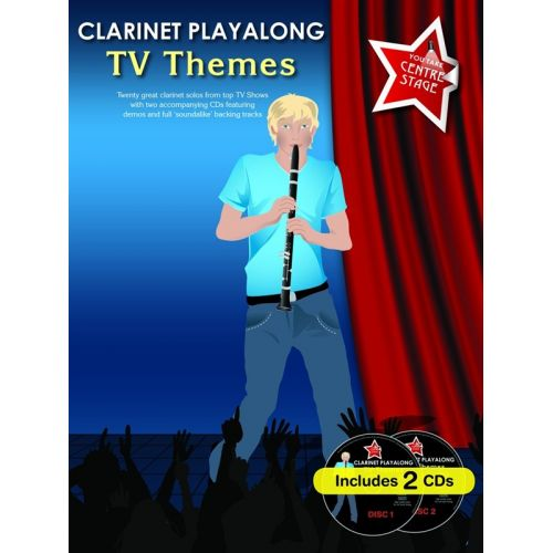 WISE PUBLICATIONS CLARINET PLAYALONG TV THEMES + CD - CLARINET