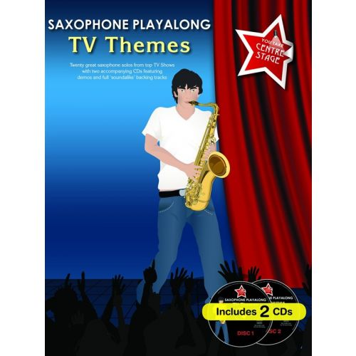 WISE PUBLICATIONS SAXOPHONE PLAYALONG TV THEMES + CD - ALTO SAXOPHONE