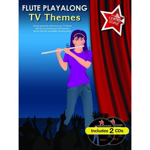 WISE PUBLICATIONS FLUTE PLAYALONG TV THEMES + CD - FLUTE
