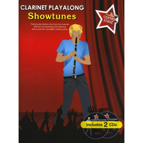 WISE PUBLICATIONS YOU TAKE CENTRE STAGE CLARINET PLAYALONG SHOWTUNES - CLARINET