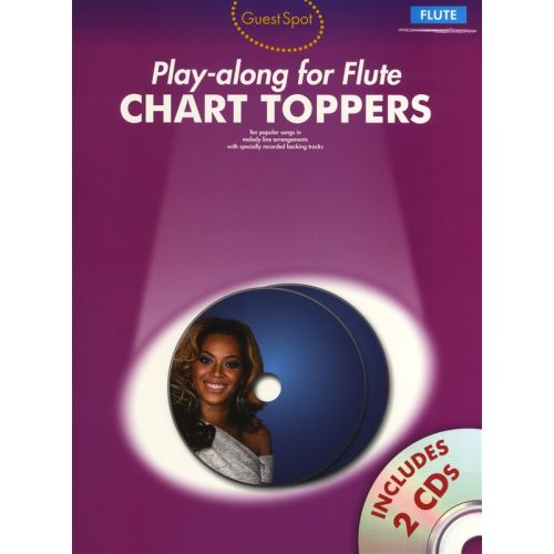 WISE PUBLICATIONS PLAYALONG FOR FLUTE CHART TOPPERS AND 2 - FLUTE