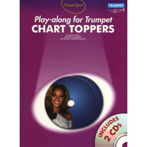 WISE PUBLICATIONS PLAYALONG FOR TRUMPET CHART TOPPERS - TRUMPET