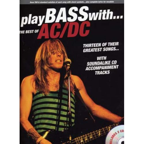 WISE PUBLICATIONS AC/DC - BEST OF PLAY BASS WITH + 2 CD