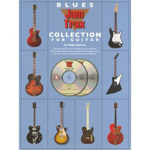 MUSIC SALES THE BLUES JAMTRAX COLLECTION FOR GUITAR + CD - GUITAR