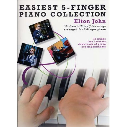 WISE PUBLICATIONS JOHN ELTON - EASIEST 5-FINGER PIANO COLLECTION