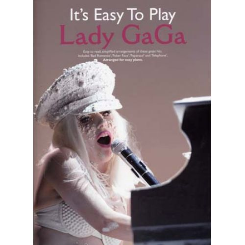 WISE PUBLICATIONS LADY GAGA - IT'S EASY TO PLAY - PIANO