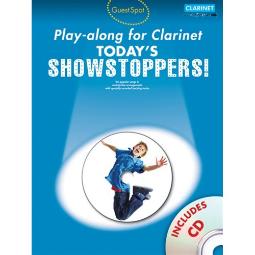WISE PUBLICATIONS GUEST SPOT TODAY'S SHOWSTOPPERS + CD - CLARINET