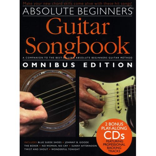 WISE PUBLICATIONS ABSOLUTE BEGINNERS GUITAR SONGBOOK OMNIBUS BOOK AND 2 CDS - LYRICS AND CHORDS