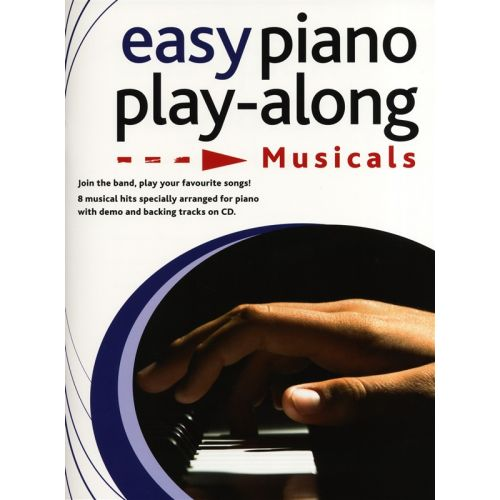WISE PUBLICATIONS EASY PIANO PLAYALONG MUSICALS PIANO + CD - PIANO SOLO