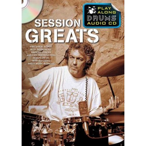 WISE PUBLICATIONS SESSION GREATS - PLAY ALONG DRUMS + CD - DRUMS