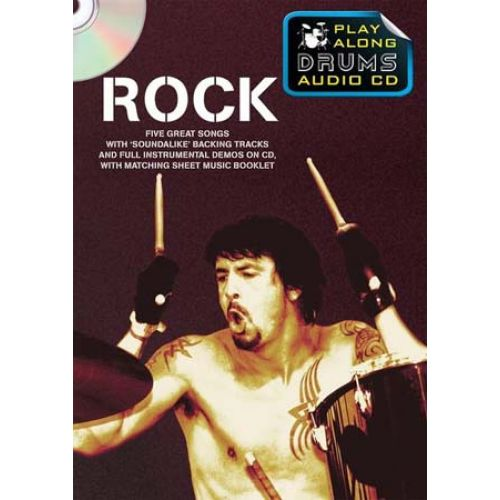 WISE PUBLICATIONS ROCK PLAY ALONG DRUMS AUDIO + CD - DRUMS