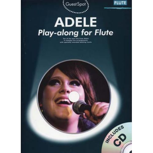 WISE PUBLICATIONS ADELE - GUEST SPOT + CD - FLUTE
