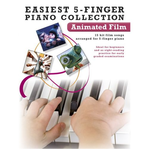 WISE PUBLICATIONS EASIEST 5-FINGER PIANO COLLECTION ANIMATED FILM - PIANO SOLO