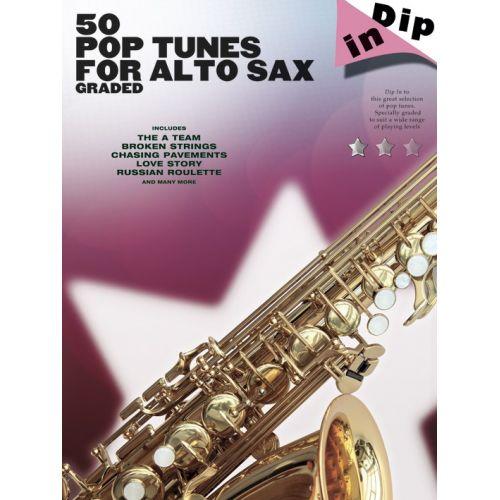 WISE PUBLICATIONS DIP IN - 50 GRADED POP ALTO SAXOPHONE SOLOS - ALTO SAXOPHONE