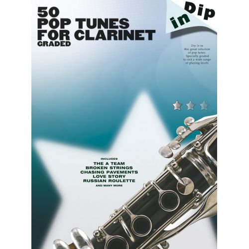 WISE PUBLICATIONS DIP IN - 50 GRADED POP CLARINET SOLOS - CLARINET
