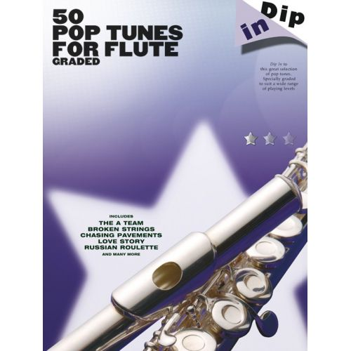 WISE PUBLICATIONS DIP IN - 50 GRADED POP FLUTE SOLOS - FLUTE