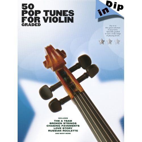 WISE PUBLICATIONS DIP IN - 50 GRADED POP VIOLIN SOLOS - VIOLIN