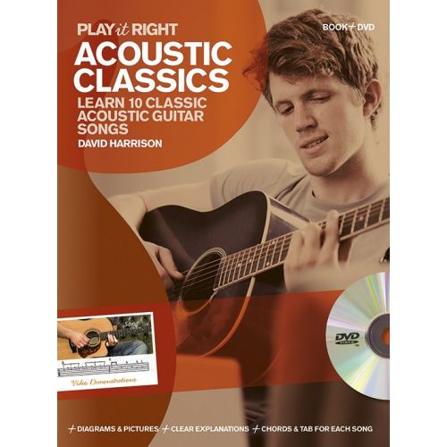 WISE PUBLICATIONS DAVID HARRISON - PLAY IT RIGHT - ACOUSTIC CLASSICS - GUITAR