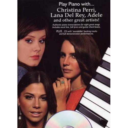 WISE PUBLICATIONS C. PERRI, L. DEL REY, ADELE & OTHERS... - PLAY PIANO WITH + CD