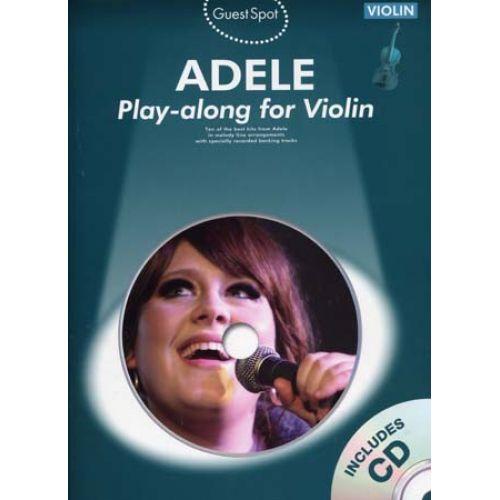 WISE PUBLICATIONS ADELE - GUEST SPOT + CD - VIOLON